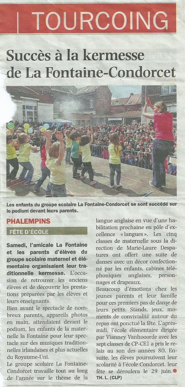2013.06.18 Nord Eclair - Succès à la kermesse de l'école La Fontaine
